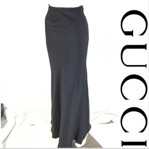 Gucci Navy Blue Maxi Skirt
